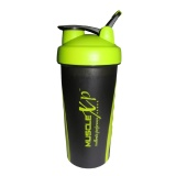 MuscleXP Sporty Gym Shaker,  Neon Green And Black  600 Ml