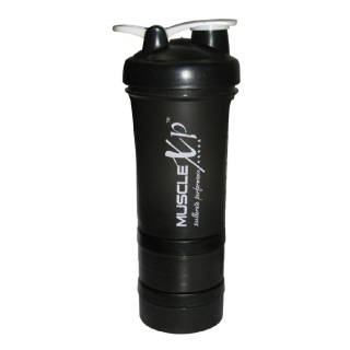 MuscleXP Advanced Stak Protein Shaker For Professionals,  Black & White  500 Ml
