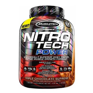 MuscleTech Performance Series NitroTech Power,  4 lb  Triple Chocolate
