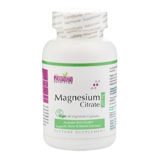 Zenith Nutrition Magnesium Citrate (330 mg),  Unflavoured  120 capsules
