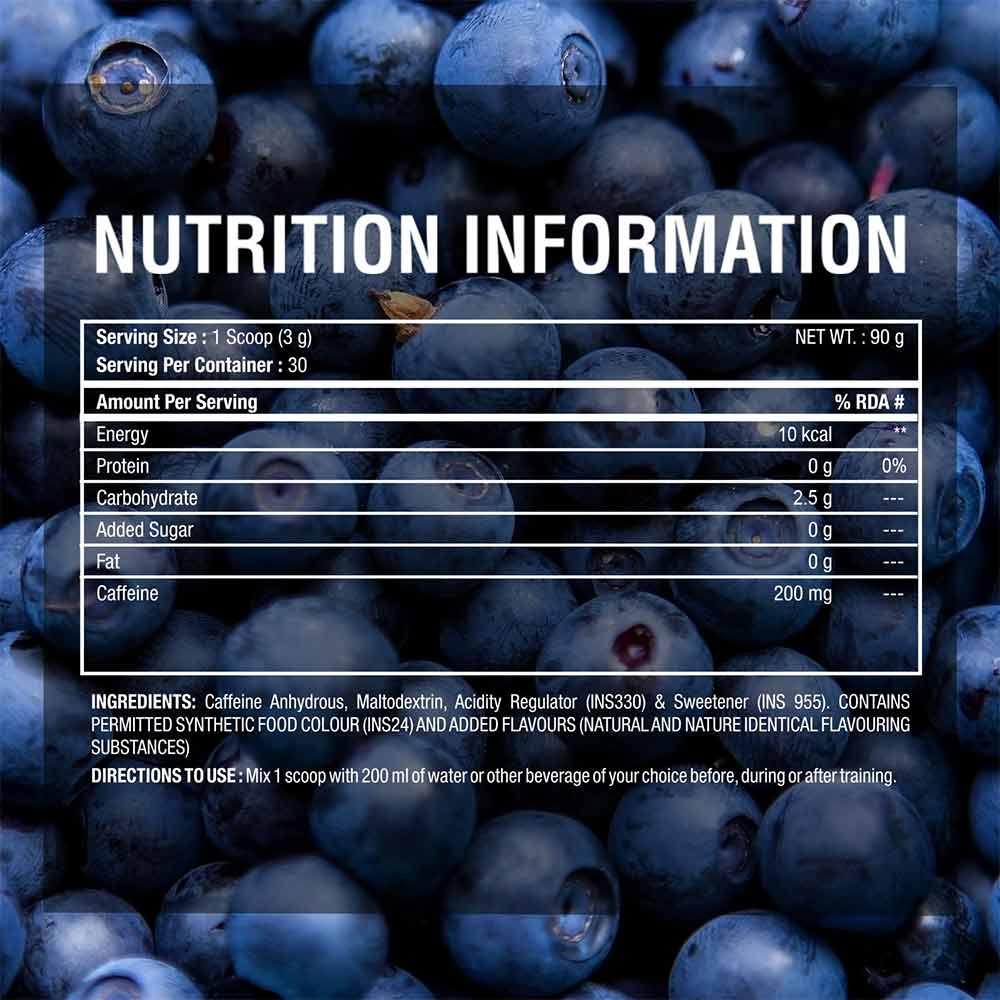 supplement - Big Muscles Caffeine,  0.19 lb  Blueberry