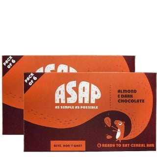 ASAP Granola Bars Pack of 2 6 Piece(s)/Pack Almond and Dark Chocolate