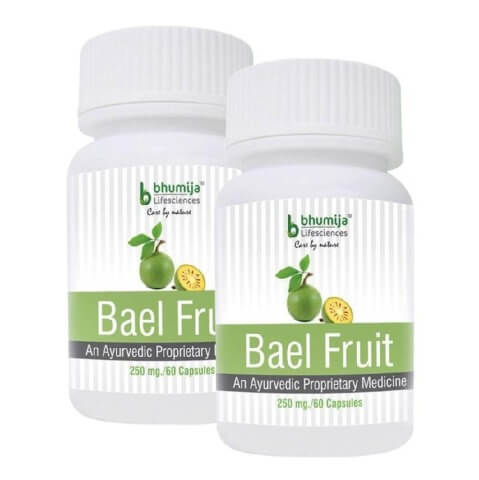 Bhumija Bael Fruit (Pack of 2),  60 capsules