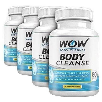 WOW Body Cleanse Pack of 4,  60 capsules  Unflavoured