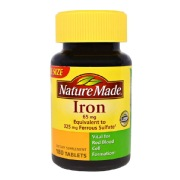 Nature Made Iron 65mg,  180 tablet(s)
