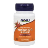 Now Vitamin D3 (5000 Iu),  120 Softgels