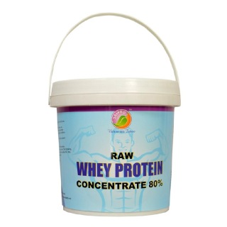 Saipro Raw Whey Protein Concentrate 80%,  2.2 Lb  Unflavoured