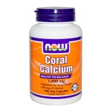 Now Coral Calcium (1000 Mg),  Unflavoured  100 Veggie Capsule(s)