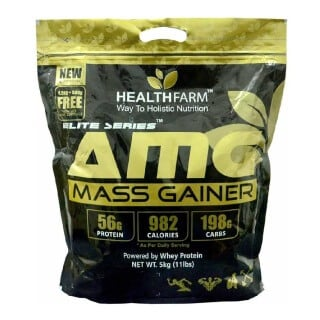 Healthfarm AMG Mass Gainer,  11 lb  Strawberry