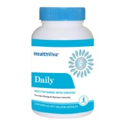 HealthViva Daily (Multivitamin with Ginseng),  Unflavoured  60 softgels
