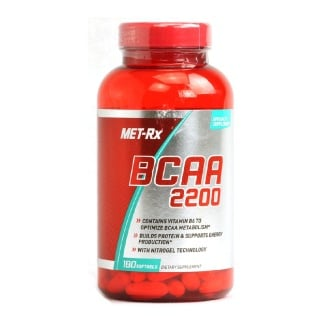 MetRx BCAA 2200,  180 softgels  Unflavoured