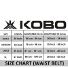 KOBO Back Support Weight Lifting Gym Belt (WTB-02),  Black  Small