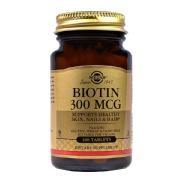 Solgar Biotin 300 mcg,  Unflavoured  100 tablet(s)