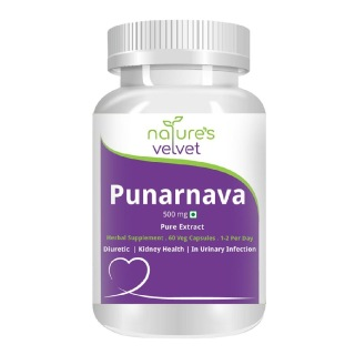 Natures Velvet Punarnava Pure Extract (500 mg),  60 veggie capsule(s)