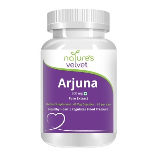 Natures Velvet Arjuna  Pure Extract (500 mg),  60 capsules