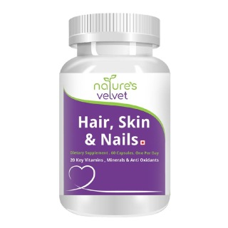 Natures Velvet Hair Skin and Nails,  Unflavoured  60 capsules