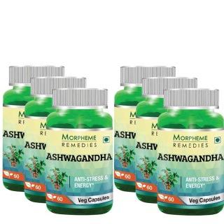 Morpheme Remedies Ashwagandha (500 mg),  6 Piece(s)/Pack