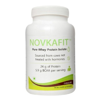 Novkafit Pure Whey Protein Isolate,  2 lb  Chocolate