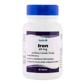 Healthvit Iron Ferrous Sulphate (65 mg),  60 tablet(s)