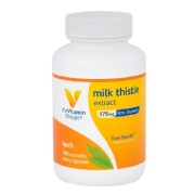 The Vitamin Shoppe Milk Thistle Extract (175 mg),  100 capsules