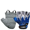 KOBO Weight Lifting Gloves (CG-01),  Blue & White  Large