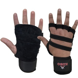 KOBO Weight Training Gloves (3612),  Black  Free Size