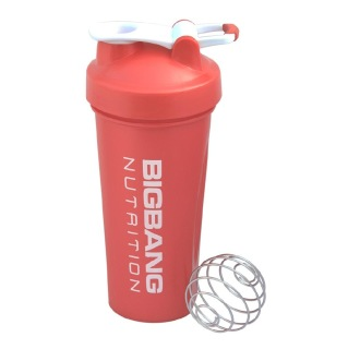 BigBang Nutrition Ball Shaker with Handle,  Red  600 ml