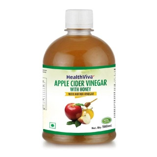 HealthViva Apple Cider Vinegar with Honey,  0.5 L  Honey