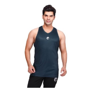 Omtex Strength Tank for Men,  Green  Large