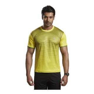 Omtex Active Wear T-Shirts - 1602,  Yellow  Large
