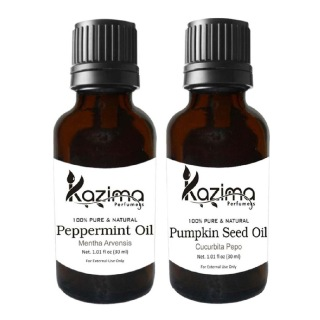 Kazima Pumpkin Seed & Peppermint Oil (Each 30ml) Combo,  2 Piece(s)/Pack  All Hair Type