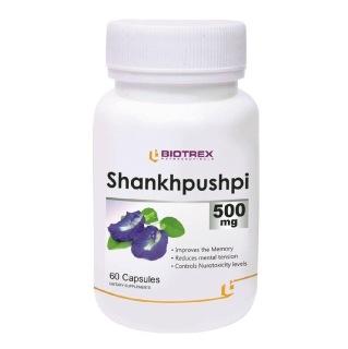 Biotrex Shankhpushpi (500 mg),  60 capsules