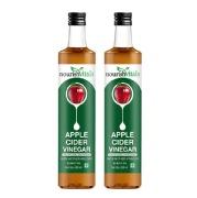 NourishVitals Apple Cider Vinegar with Mother,  0.250 L  Unflavoured (Pack of 2)