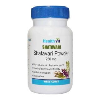 Healthvit Shatavari Powder (250 mg),  60 capsules