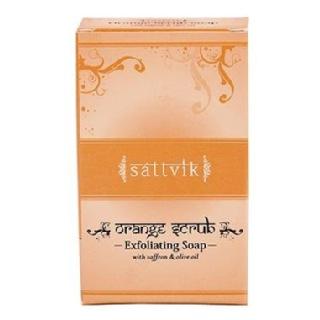 Sattvik Organics Soap,  75 g  Orange Scrub Exfoliating