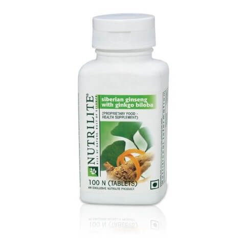 Amway Nutrilite Siberian Ginseng With Ginkgo Biloba,  100 tablet(s)