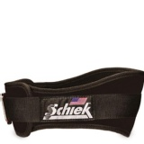Schiek Workout Belt 6 Inch,  Black  Large