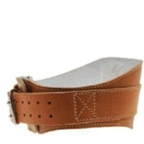 Schiek Leather Padded Contour Belt 6 Inch,  Brown  Large
